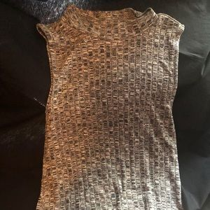 American Eagle Turtleneck Tank Top Flannel Gray AE